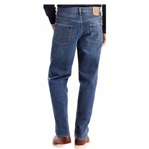 Levi's 550 Medium Wash Relaxed Fit Jean Size 46×30